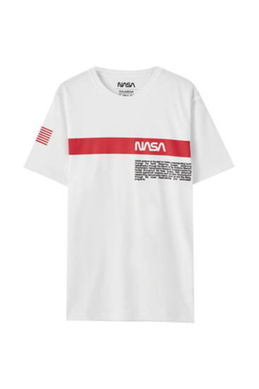 T-shirt NASA bande orange