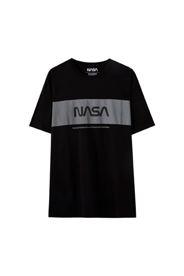 NASA T-shirt with reflective panel detail