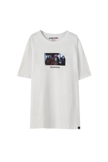 Μπλούζα με χαρακτήρες από τη σειρά Η τέλεια ληστεία x Pull&Bear