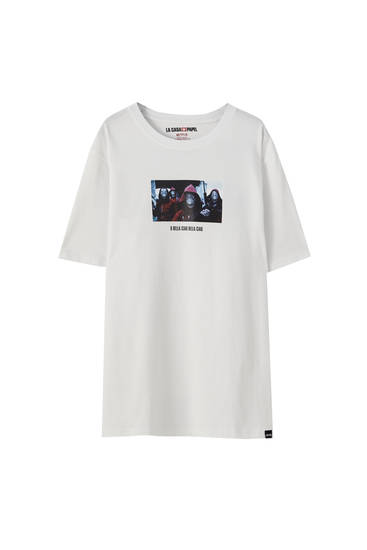 Money Heist x Pull&Bear characters T-shirt