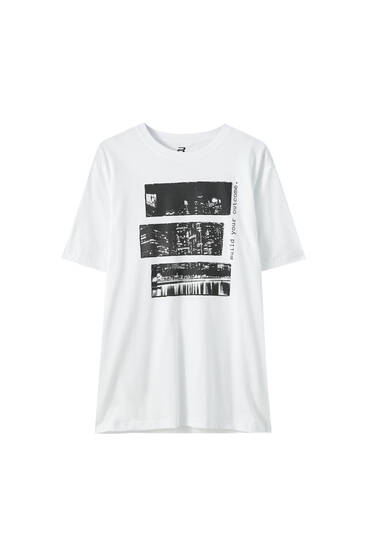 White building T-shirt