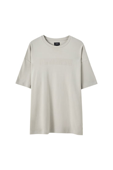T-shirt basic imprimé