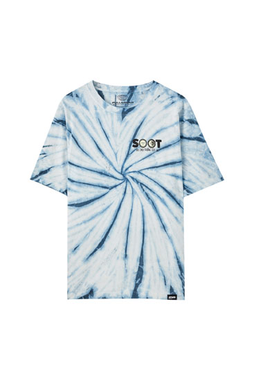 Tie-dye T-shirt with illustration