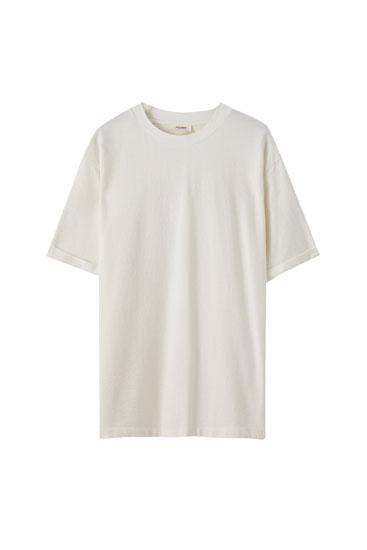 Camiseta oversize lino