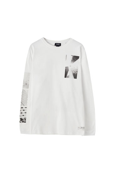 White T-shirt with illustration
