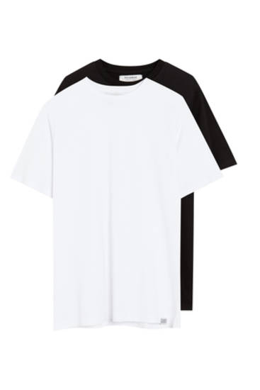 2-pack t-shirts i bomull basic