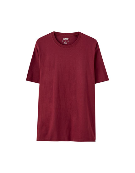 Basic maroon T-shirt