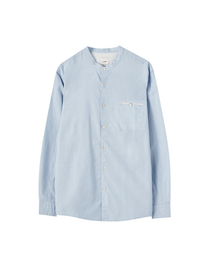 Cotton and linen blend shirt