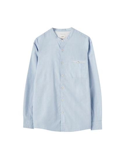 Camisa mezcla algodón lino