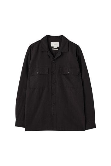 Chemise décontractée lin
