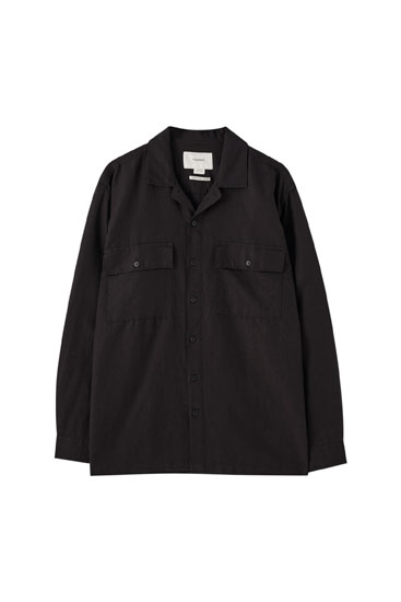Camisa utility lino