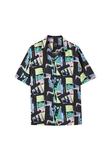 Camisa básica print vintage