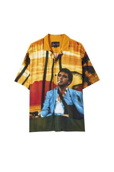Camisa groga estampat Scarface