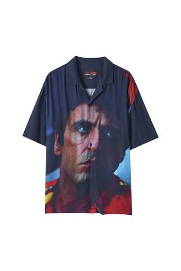 Hemd mit Scarface-Print