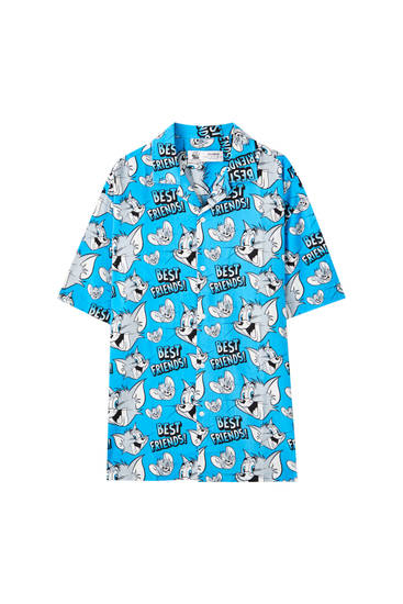 Camisa Tom & Jerry blava