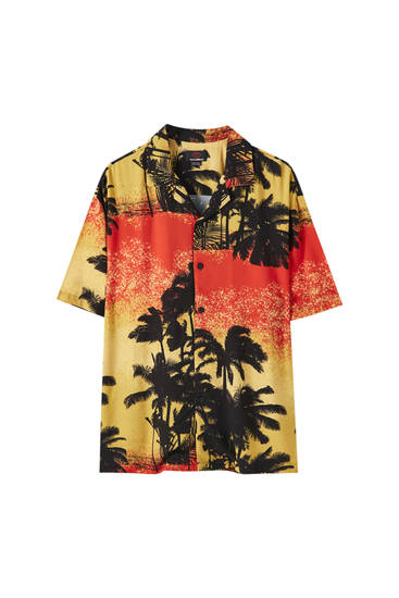 Hemd mit Print Palm Springs