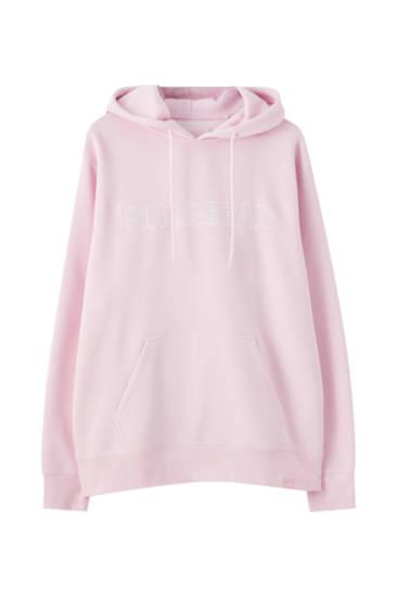 Sportisks džemperis ar kapuci un 'Pull&Bear' logotipu