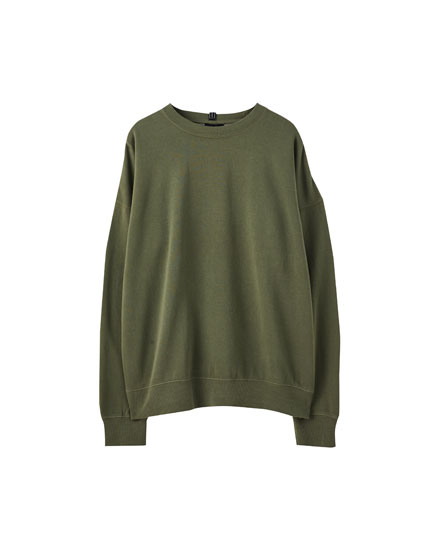 Basic coloured oversized sweatshirt