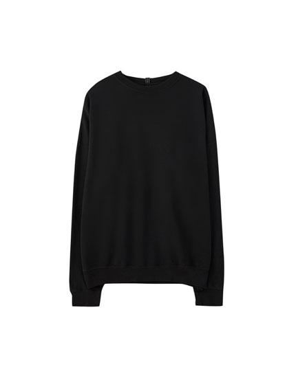 Basic coloured oversized sweatshirt