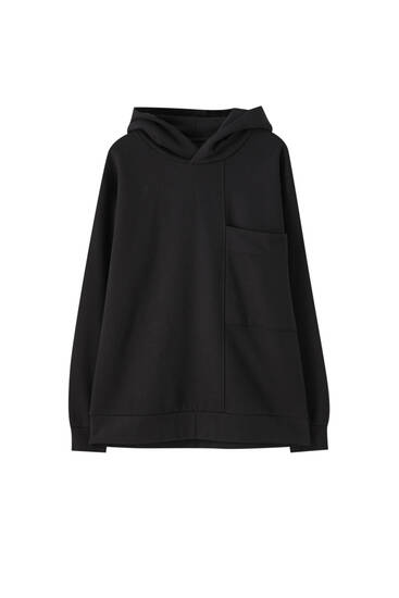 Contrast panelled sweatshirt with pocket