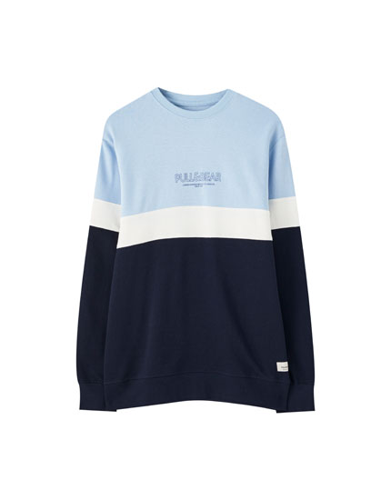 Basic colour block logo sweatshirt