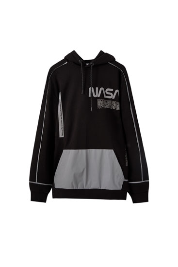 NASA hoodie with a reflective pocket