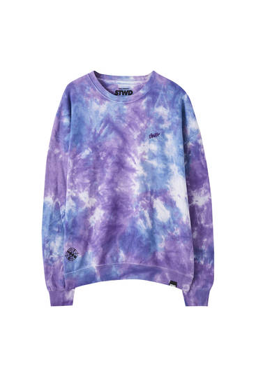 Purple tie-dye sweatshirt