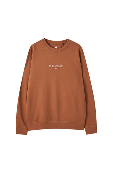 Basic round neck logo sweatshirt