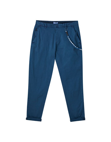 Pantaloni chino slim fit laccio