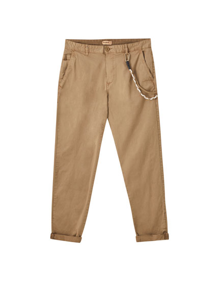 Pantalon chino slim cordon
