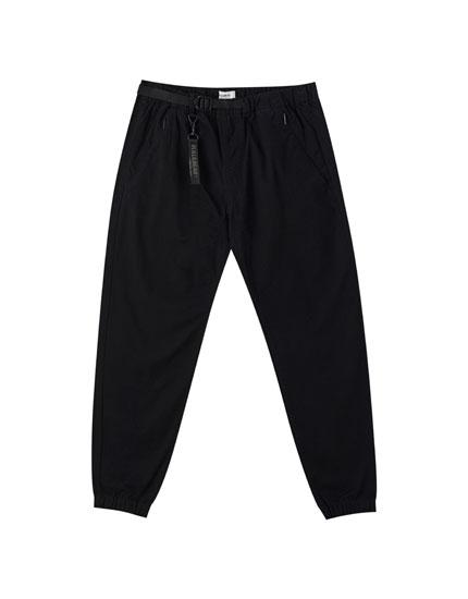 Pantalón beach básico cinturón