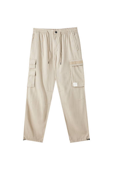 Slim fit linen trousers