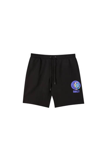 Pantalon Smiley jogger noir
