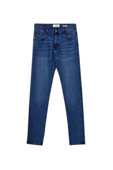 Basic dark blue super skinny jeans