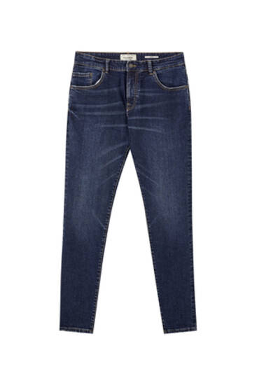 Jeans skinny fit azuis escuras