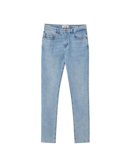 Jeans superskinny azul claro