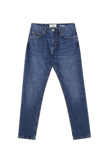 Jeans regular comfort azul medio