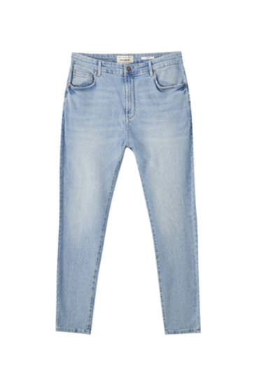 Jeans carrot fit i bomull