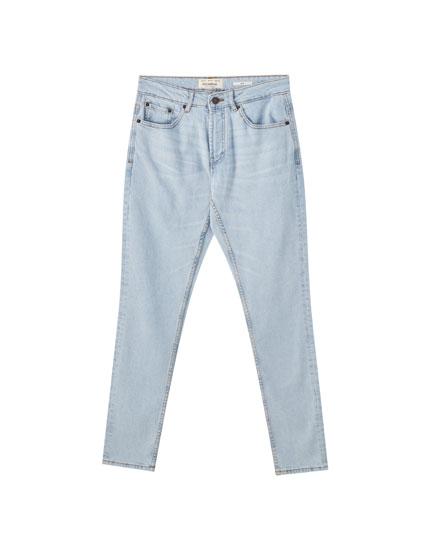 Slim-Fit-Jeans im Bleach-Look