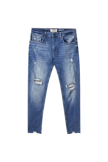 Premium skinny fit jeans med huller