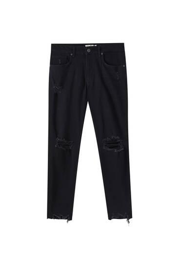 Jeans skinny premium rotos pernera