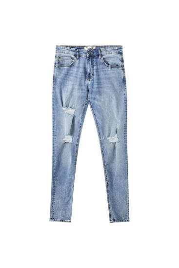 Hellblaue Superskinny-Jeans