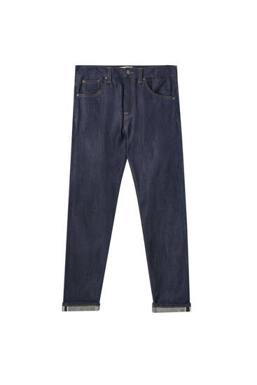 Basic jeans with selvedge detail