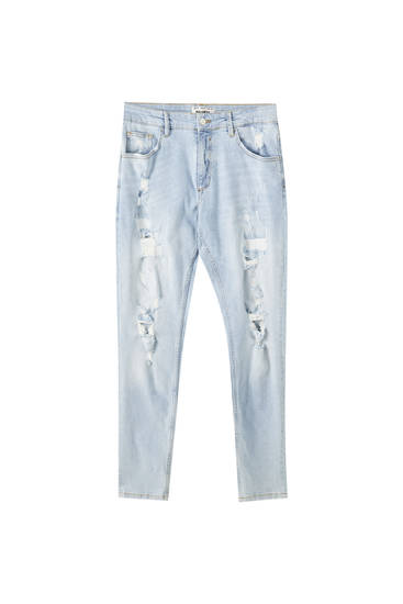 Jeans detalle rotos skinny fit