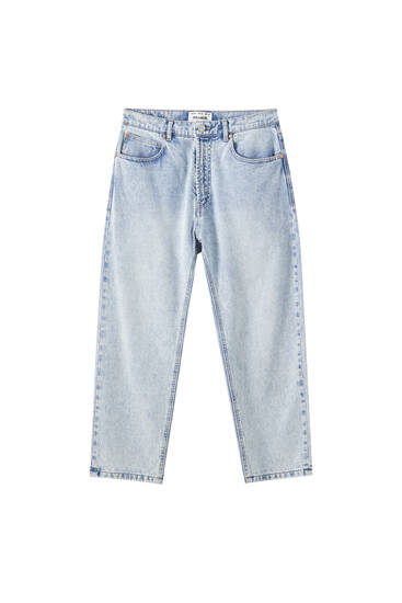 Jeans jambe large basique