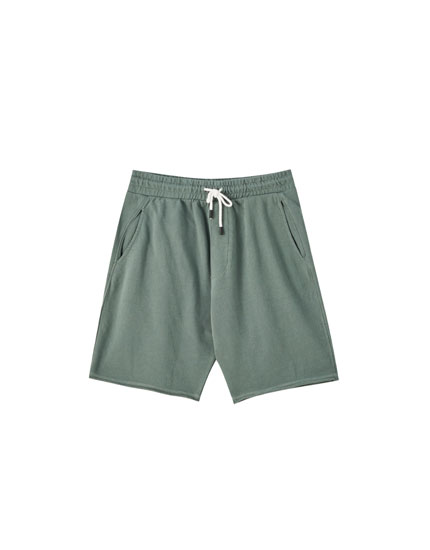 Basic faded jogging Bermuda shorts
