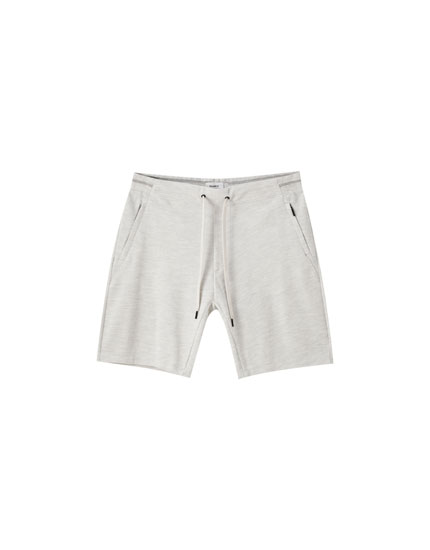 Basic piqué jogging Bermuda shorts