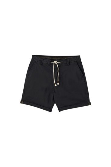 Basic garment dyed Bermuda shorts