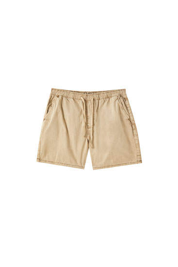 Faded Bermuda shorts with elastic waistband