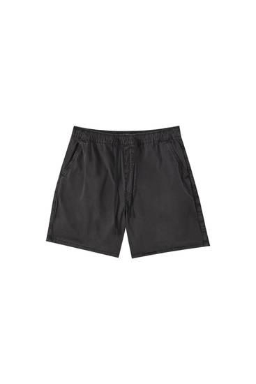 Bermuda delavada cintura elástica